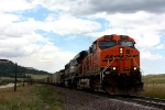 BNSF 5968 holds for a northbound north of the single track